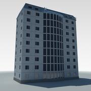 Edificio de varios pisos de condominios de baja poli 2 modelo 3d