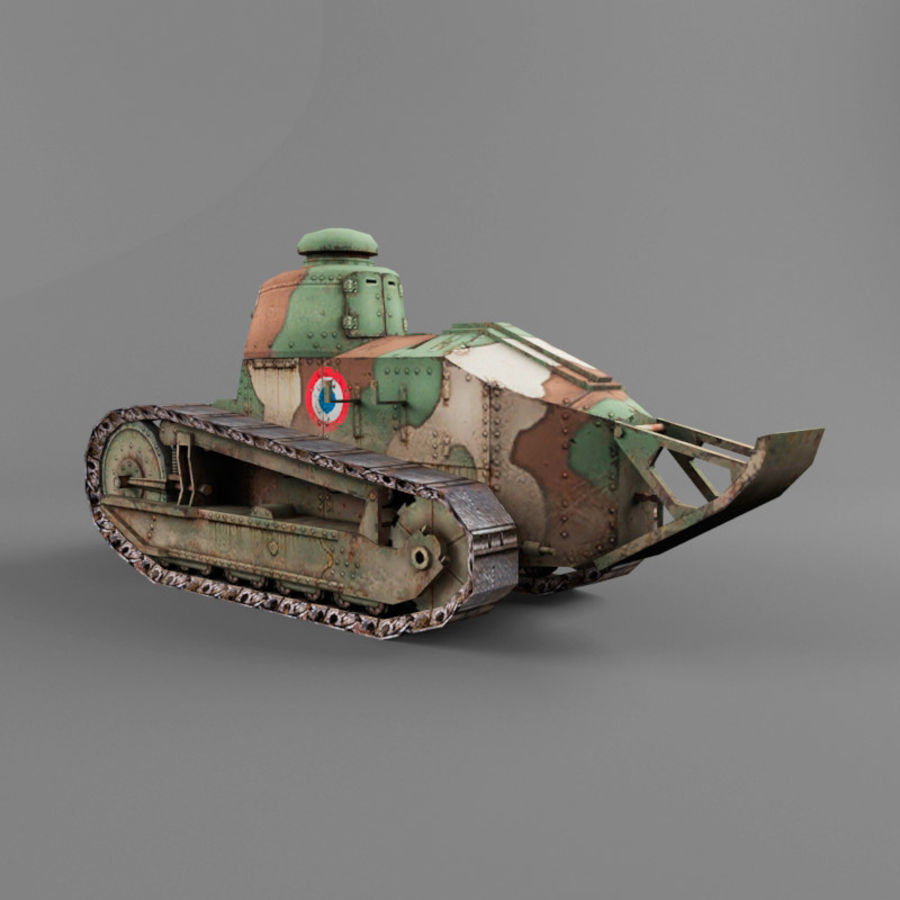 Renault FT royalty-free 3d model - Preview no. 3