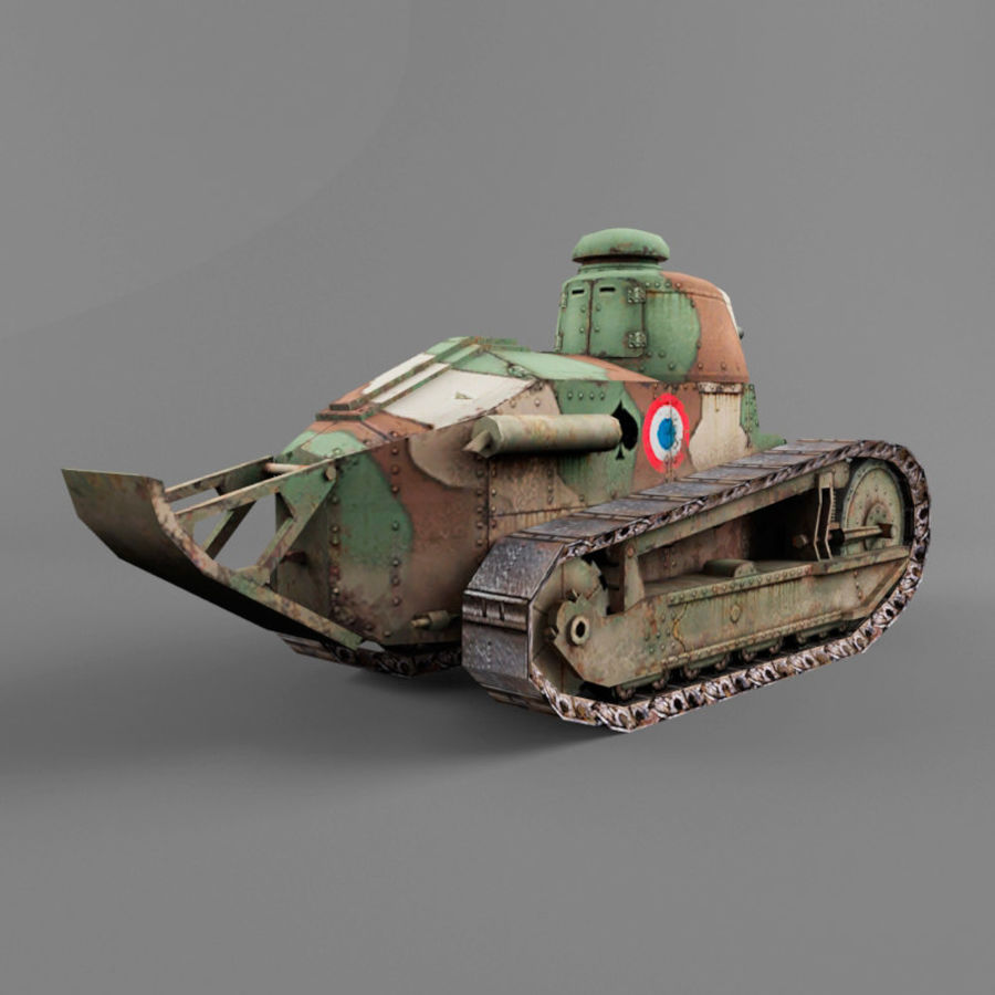 Renault FT royalty-free 3d model - Preview no. 5