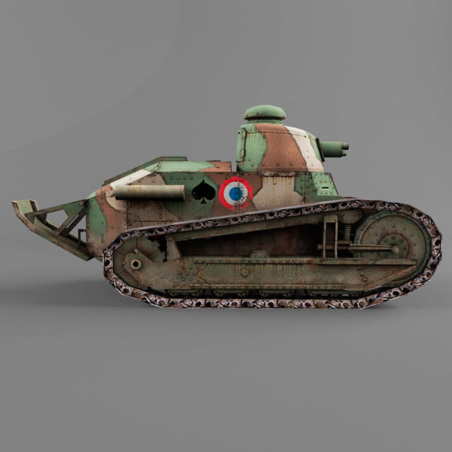 Renault FT royalty-free 3d model - Preview no. 6