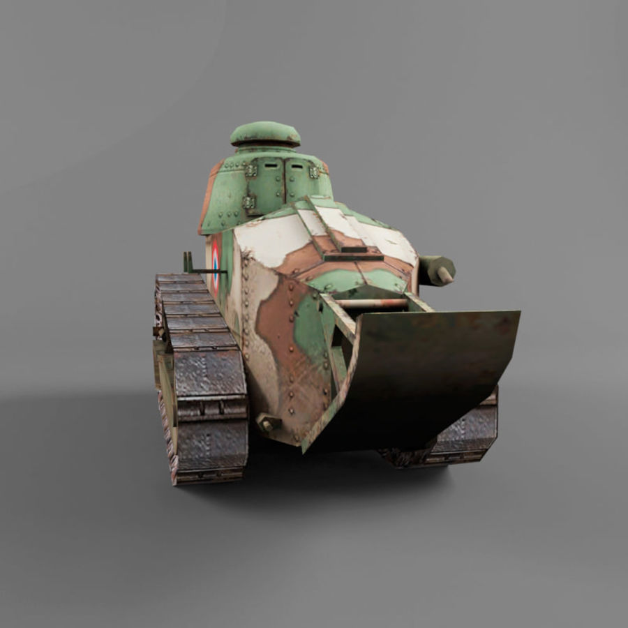 Renault FT royalty-free 3d model - Preview no. 4
