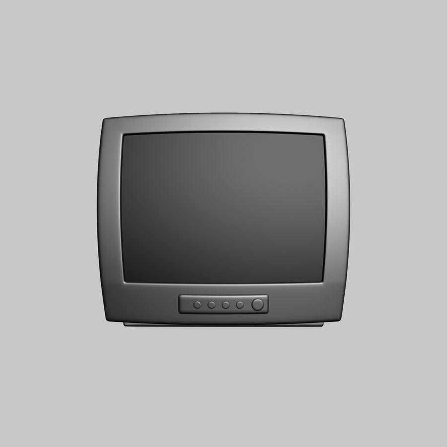 Televisión vieja royalty-free modelo 3d - Preview no. 2