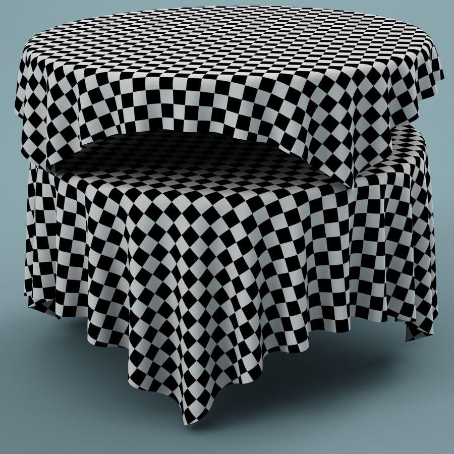 Masa örtüsü 02 royalty-free 3d model - Preview no. 4