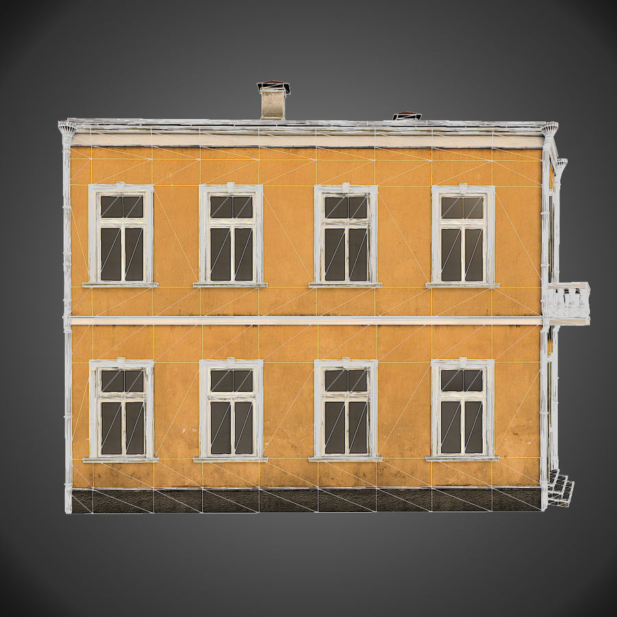 Neoclassical house royalty-free 3d model - Preview no. 6