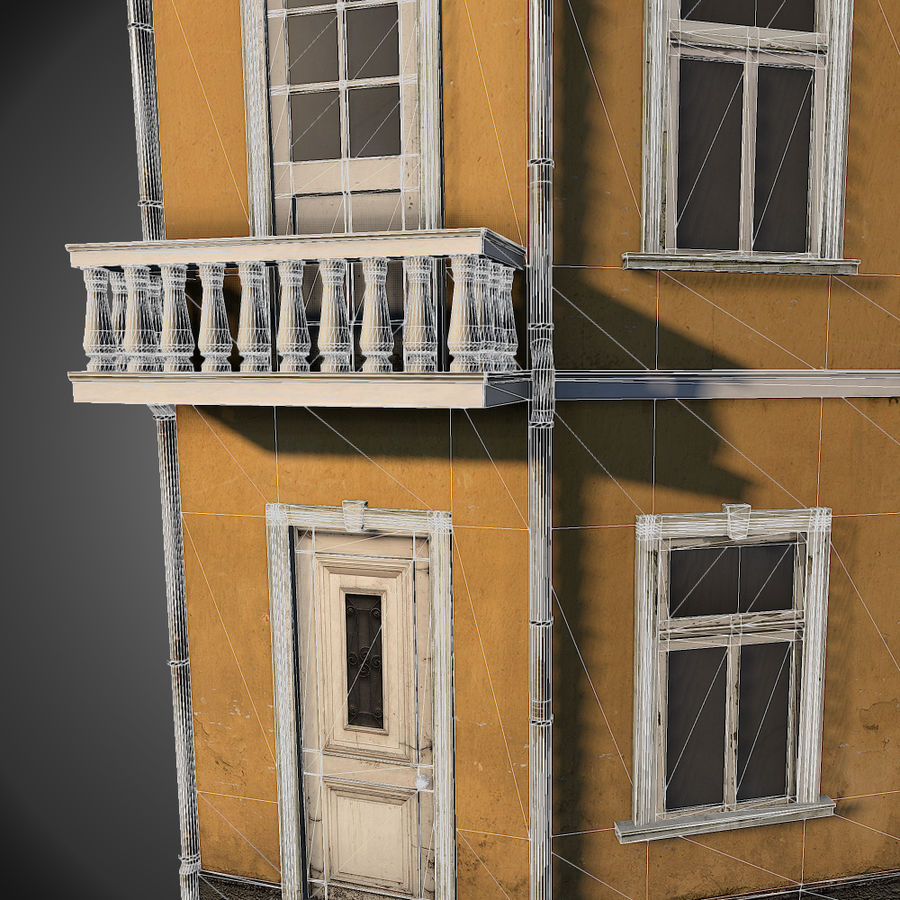 Neoclassical house royalty-free 3d model - Preview no. 5