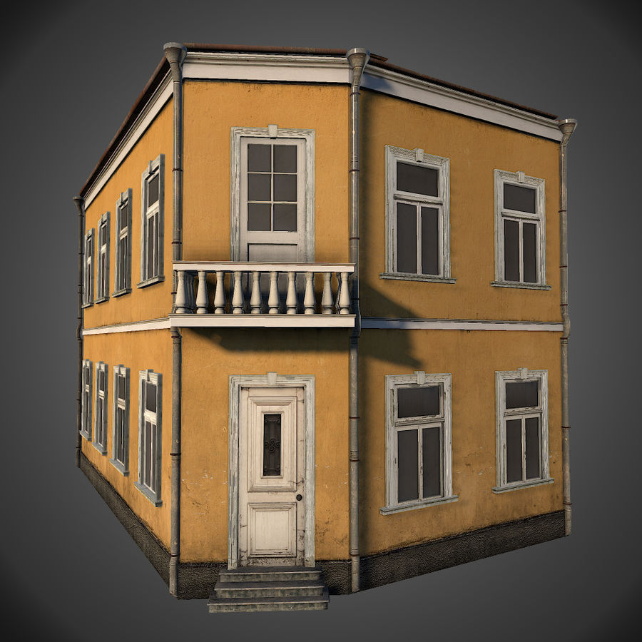 Neoclassical house royalty-free 3d model - Preview no. 1