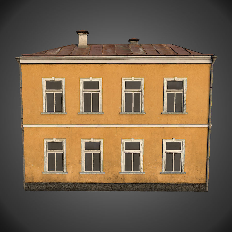 Neoclassical house royalty-free 3d model - Preview no. 4