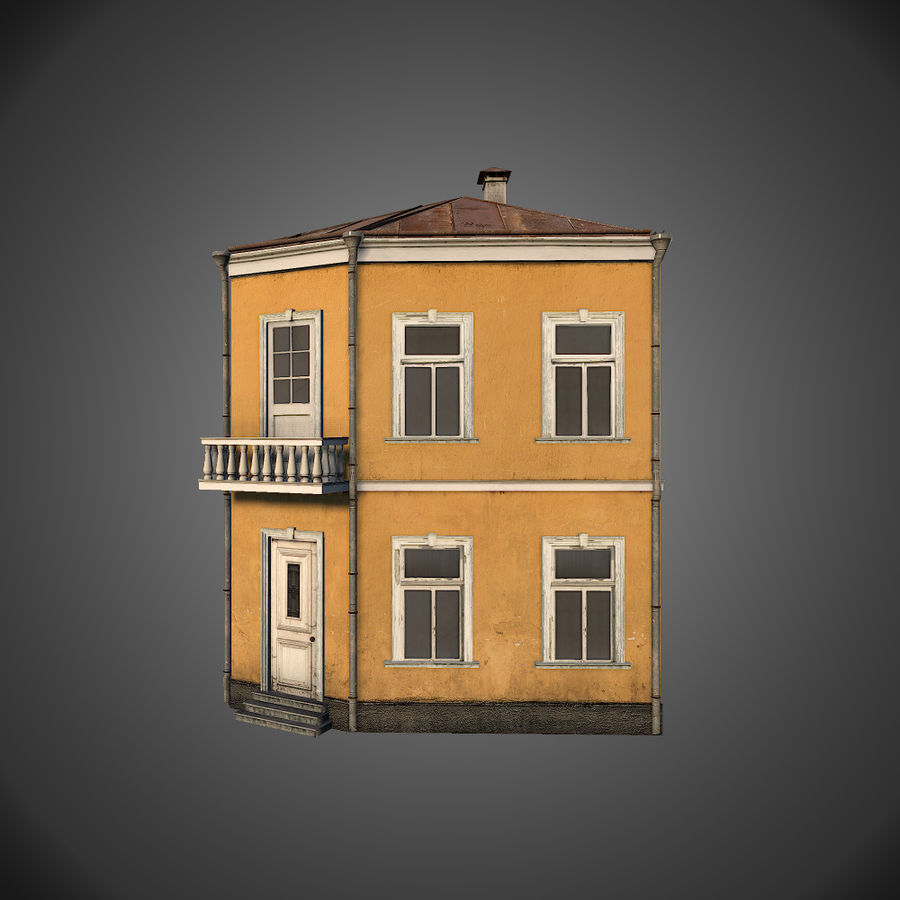 Neoclassical house royalty-free 3d model - Preview no. 3