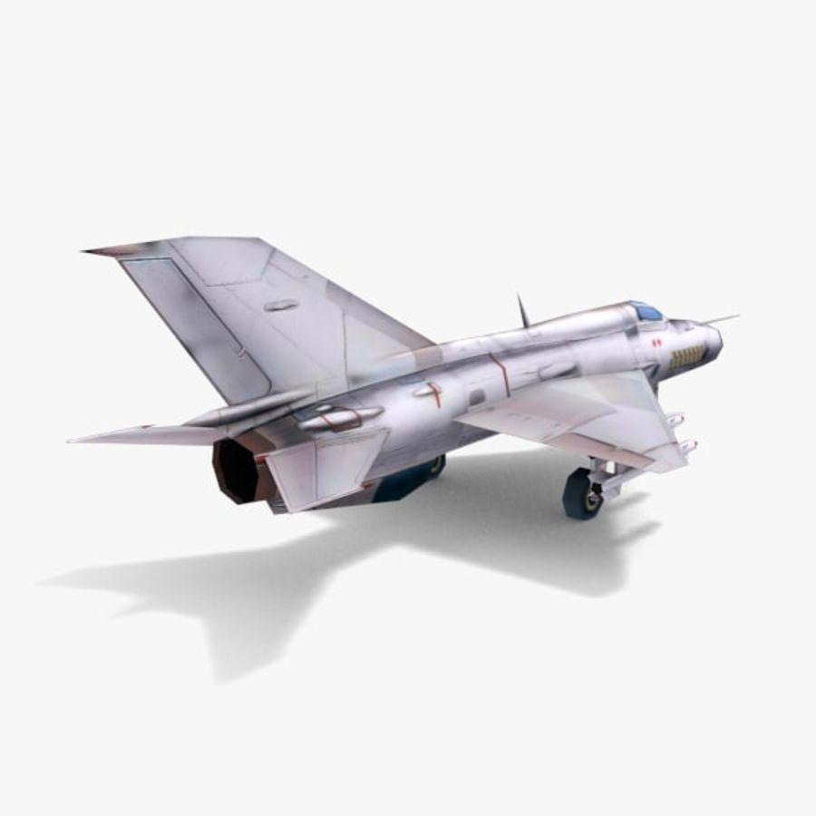 미그 -21 royalty-free 3d model - Preview no. 4