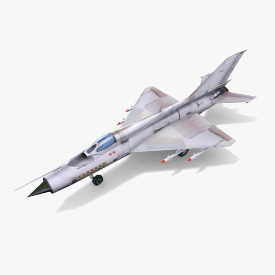 MiG-21 royalty-free 3d model - Preview no. 3