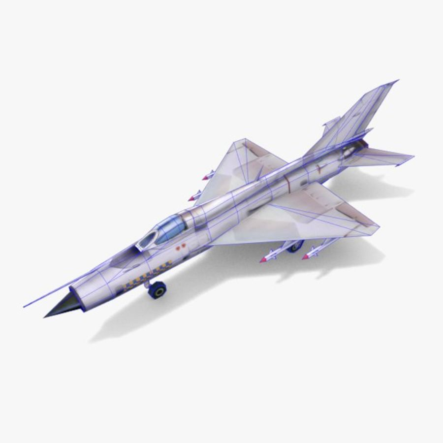 MiG-21 royalty-free 3d model - Preview no. 6