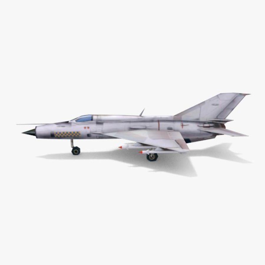 미그 -21 royalty-free 3d model - Preview no. 2