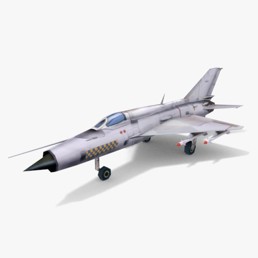 MiG-21 royalty-free 3d model - Preview no. 1