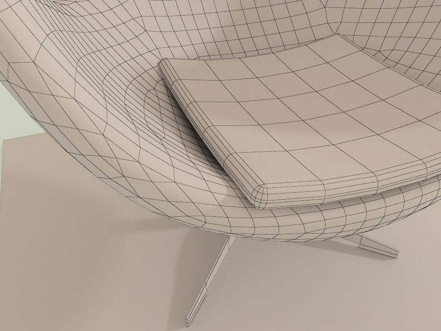 Egg Chair royalty-free 3d model - Preview no. 6