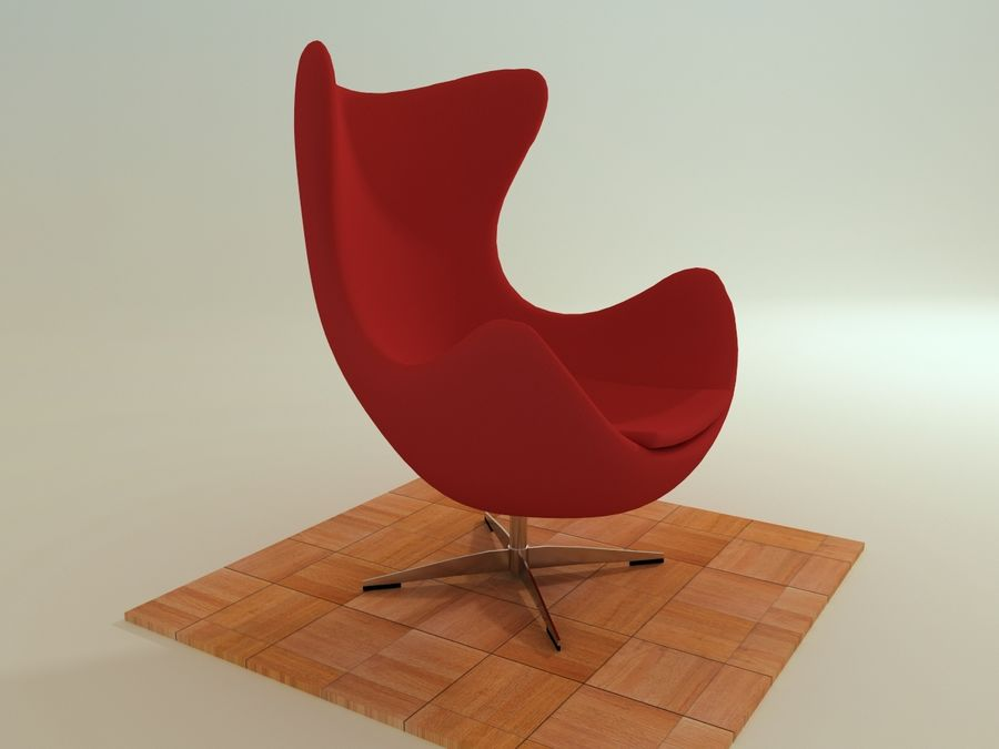 Egg Chair royalty-free 3d model - Preview no. 1
