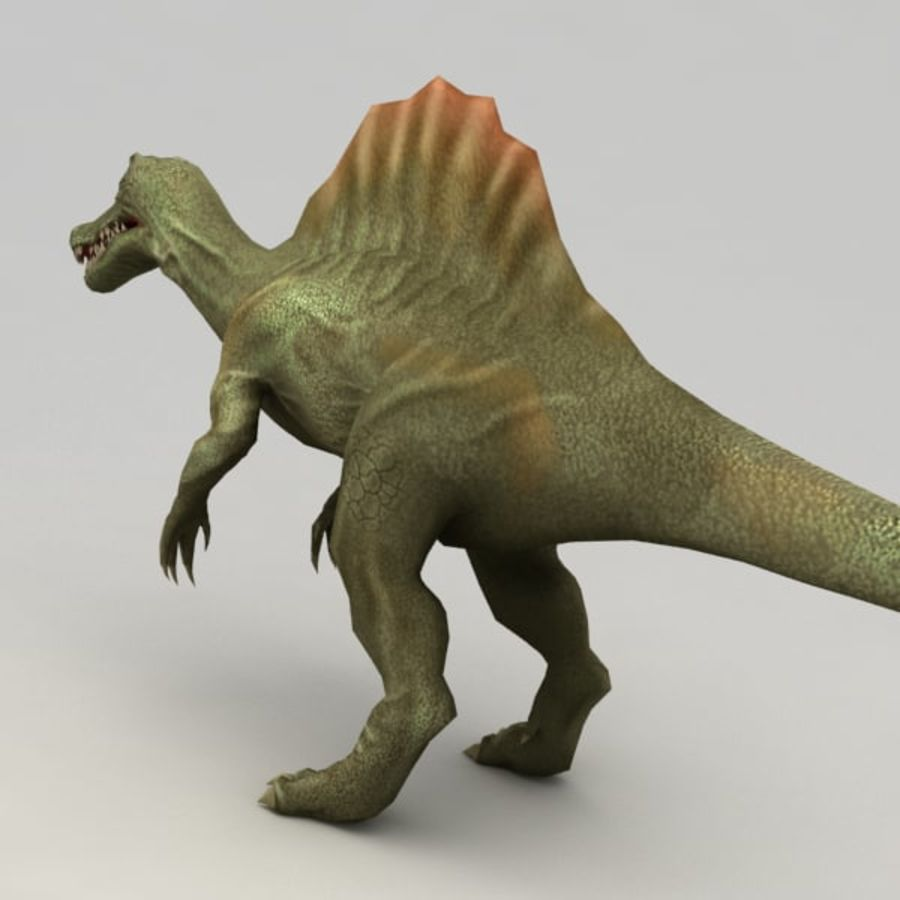 Spinosaurus rigged royalty-free 3d model - Preview no. 3