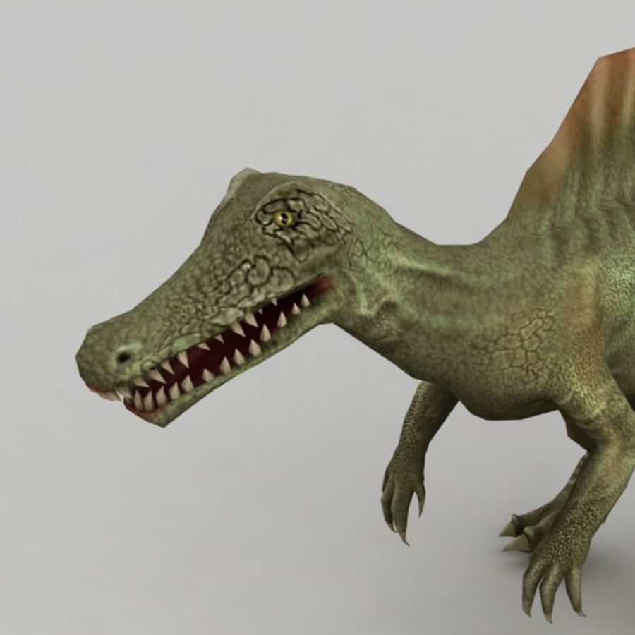 Spinosaurus rigged royalty-free 3d model - Preview no. 6