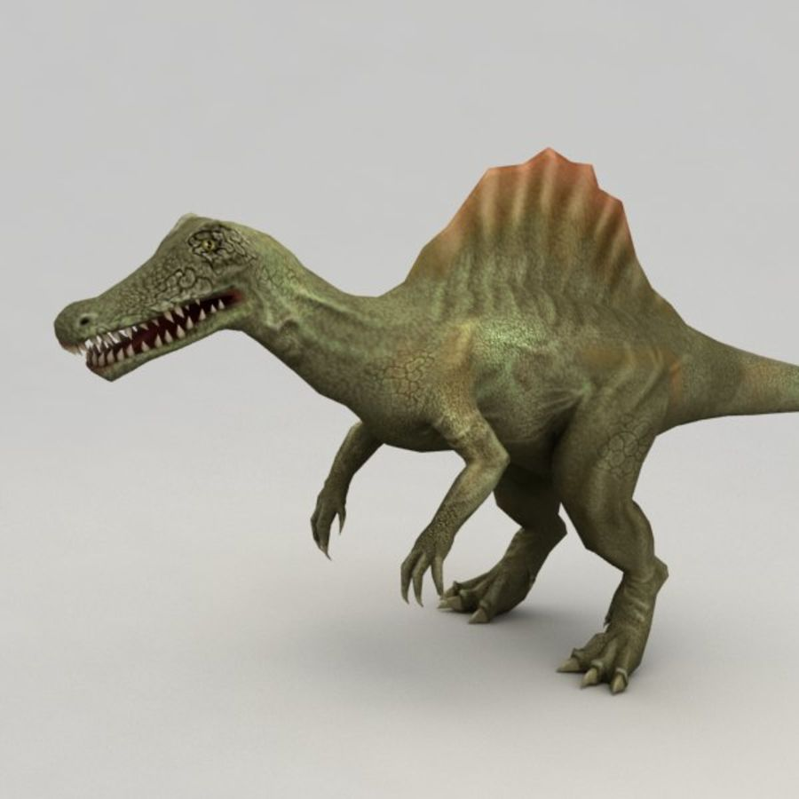 Spinosaurus rigged royalty-free 3d model - Preview no. 2