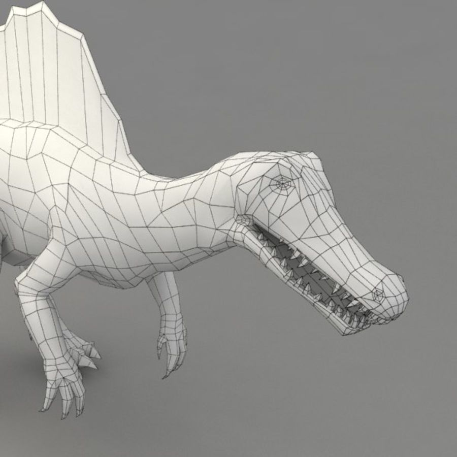Spinosaurus rigged royalty-free 3d model - Preview no. 10