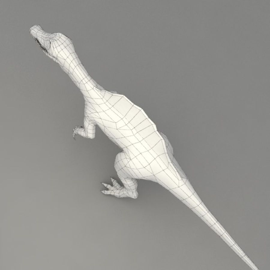 Spinosaurus rigged royalty-free 3d model - Preview no. 11