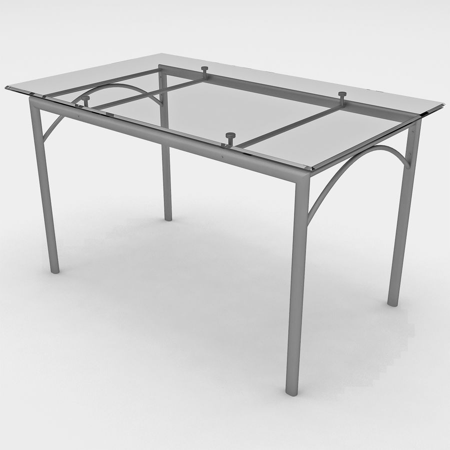 Rectangular Dining Table With Glass Top 3d Model 9 Max Obj 3ds C4d Lwo Ma Free3d