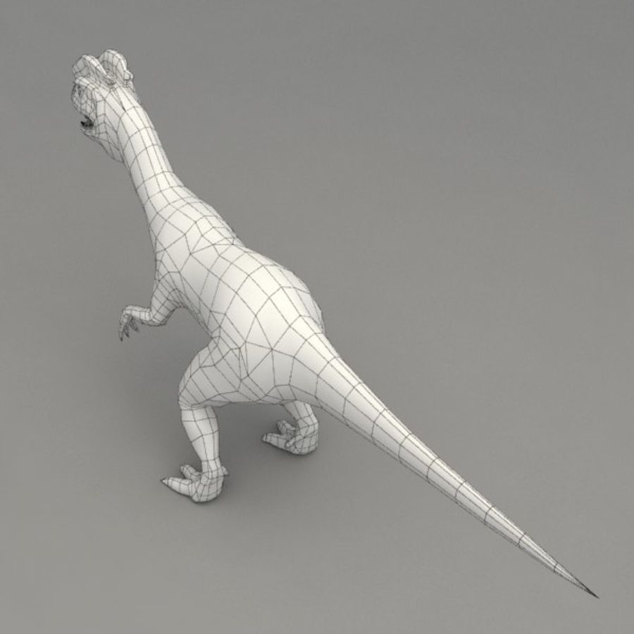 Dilophosaurus rigged royalty-free 3d model - Preview no. 8
