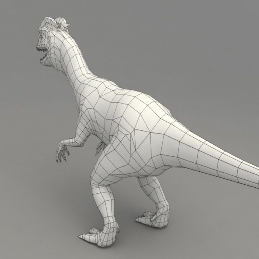 Dilophosaurus rigged royalty-free 3d model - Preview no. 9