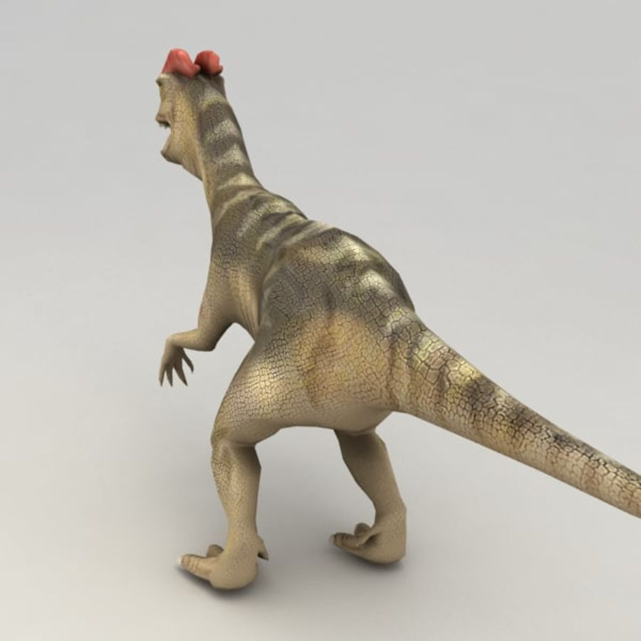 Dilophosaurus rigged royalty-free 3d model - Preview no. 3