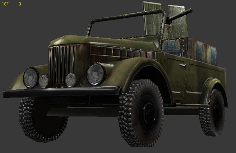 uaz jeep royalty-free 3d model - Preview no. 5