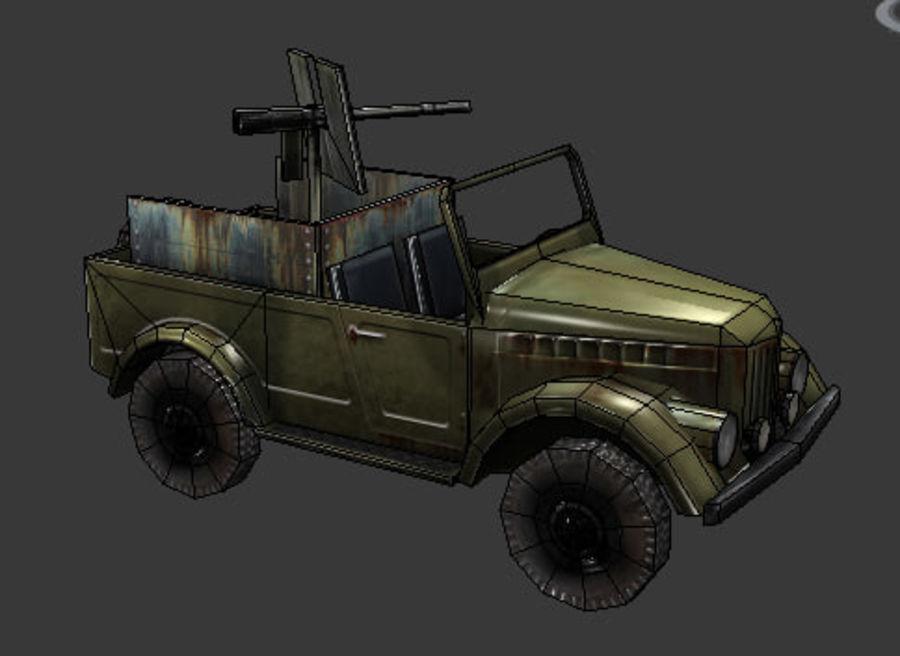 uaz jeep royalty-free 3d model - Preview no. 4