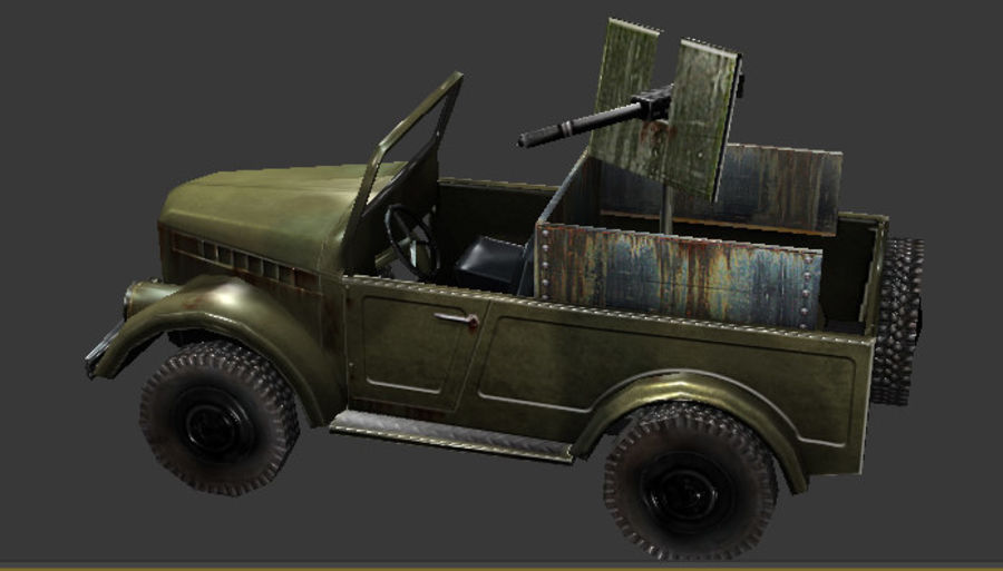uaz jeep royalty-free 3d model - Preview no. 2