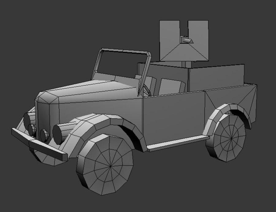 uaz jeep royalty-free 3d model - Preview no. 6