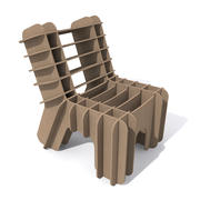 Eco-Friendly Cardboard Chair 3d model