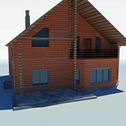 casa de campo de baja poli 6 modelo 3d