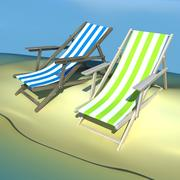 Silla de playa reclinable modelo 3d