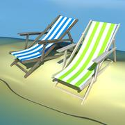 Beach Chair Recliner 3d model