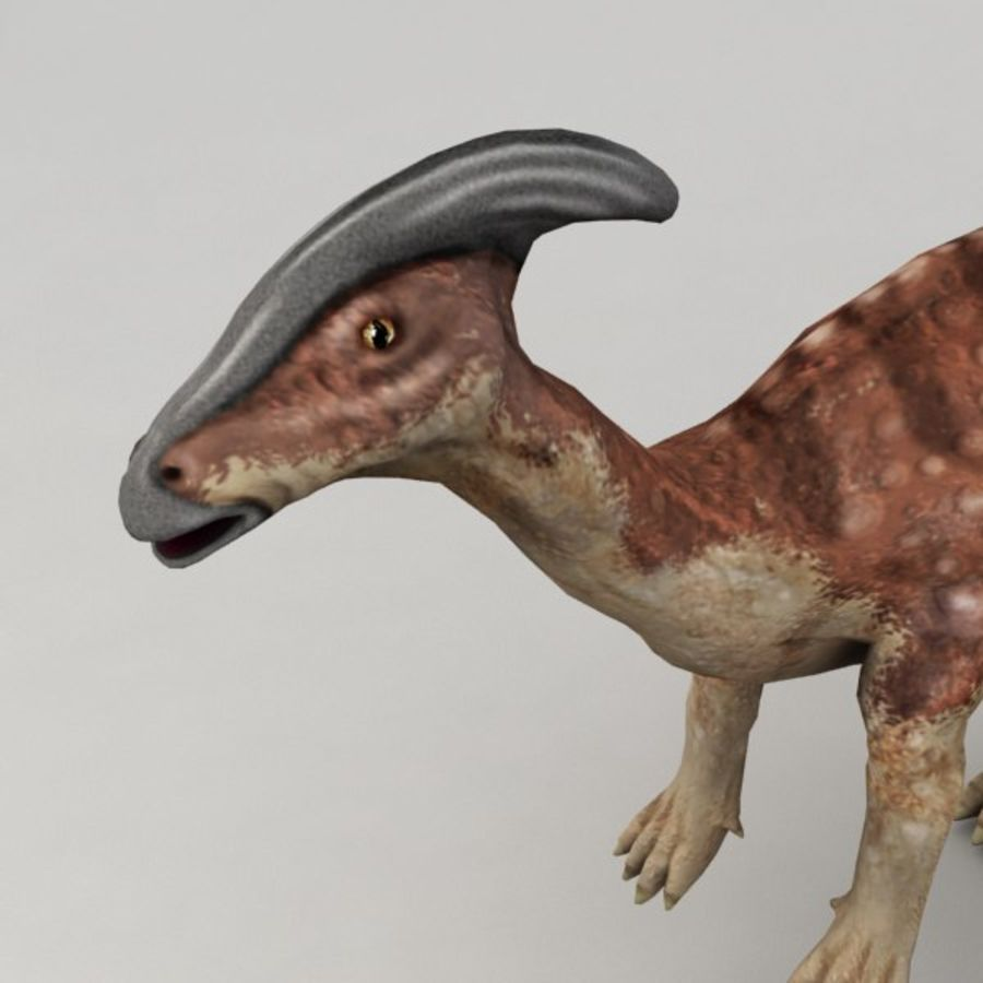 Parasaurolophus rigged royalty-free 3d model - Preview no. 7