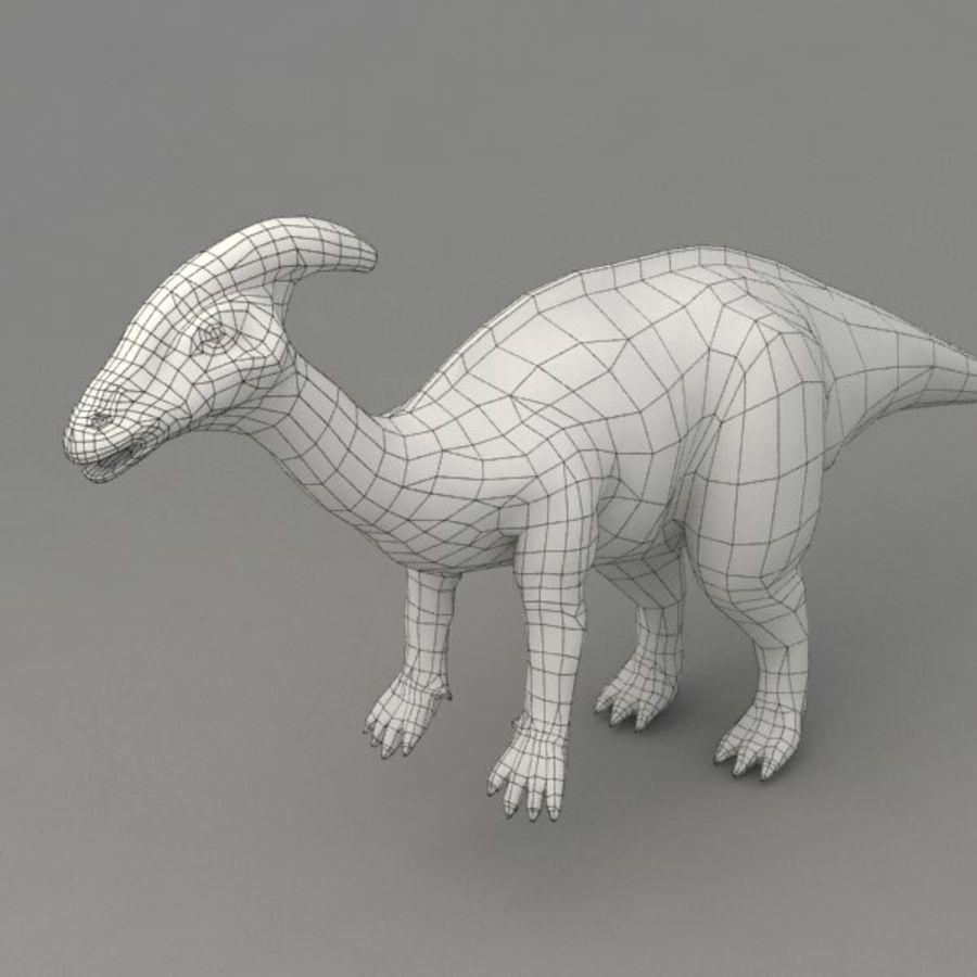 Parasaurolophus rigged royalty-free 3d model - Preview no. 9
