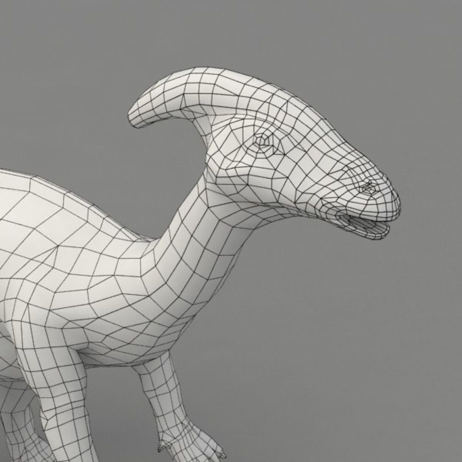 Parasaurolophus rigged royalty-free 3d model - Preview no. 12