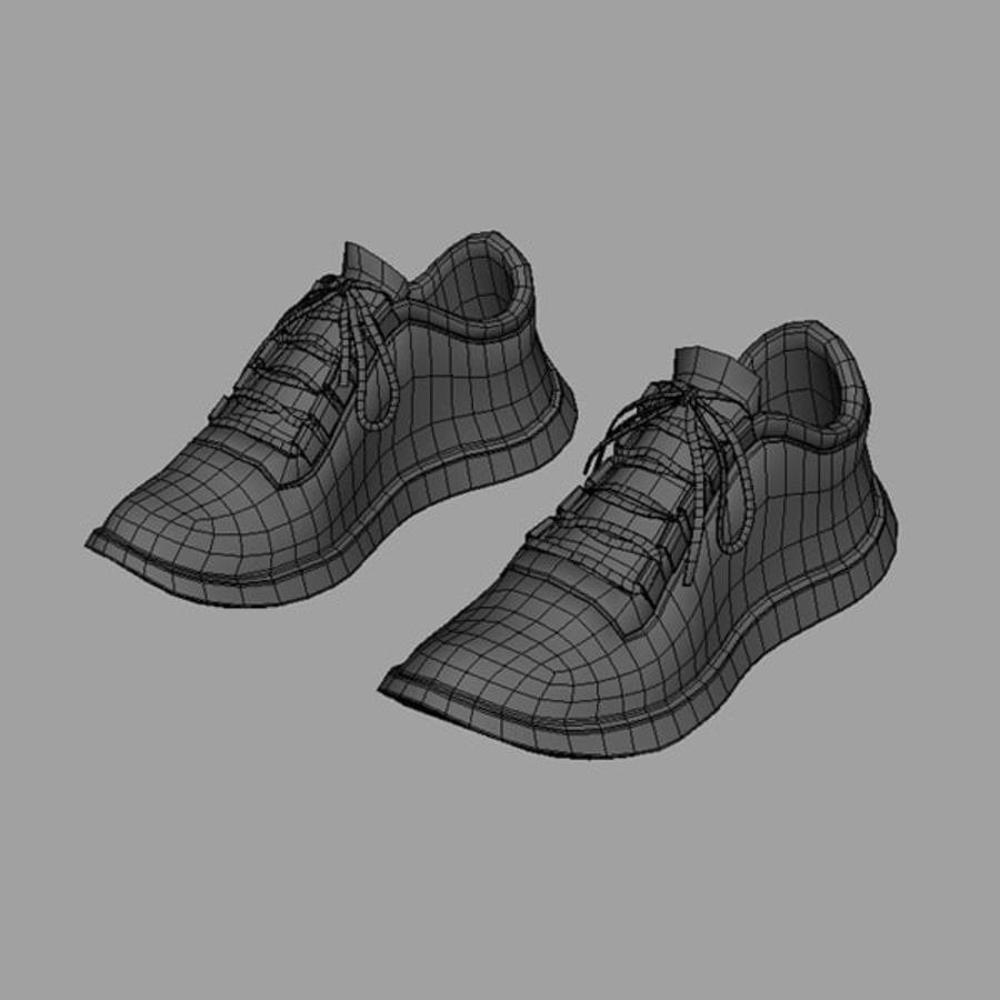 Sports shoe royalty-free 3d model - Preview no. 5