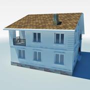 casa de campo de baja poli 4 modelo 3d