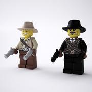 LEGO Cowboys 3d model