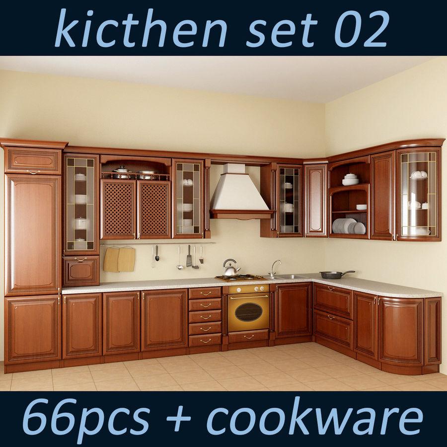 Kitchen Set 02 3d Model 40 Max Free3d