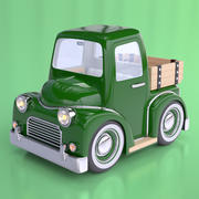 Cartoon Bauernhof Pickup Truck 3d model