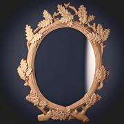 Mirror Oak Wood 3d model