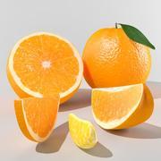 Frukt Orange 3d model