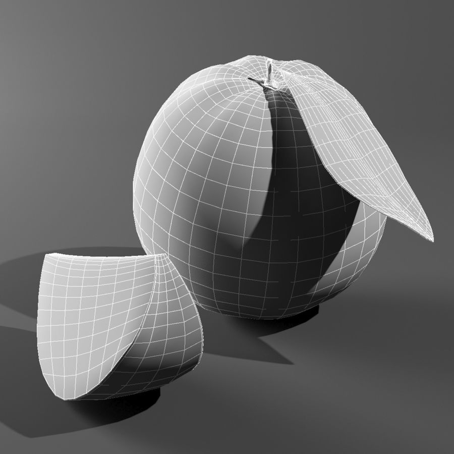 Fruta laranja royalty-free 3d model - Preview no. 8