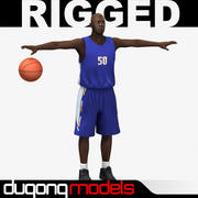 Basketball Player 01 3d model