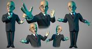 Biznes człowiek toon znaków 3d model