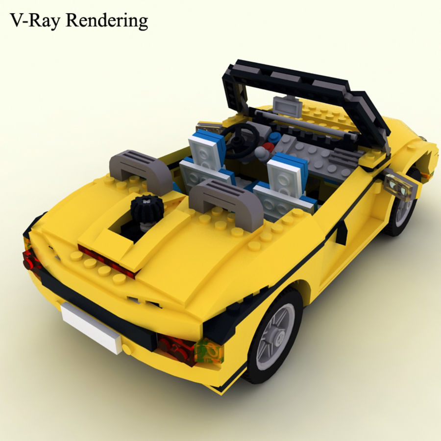 Lego Cool Cruiser 5767 royalty-free 3d model - Preview no. 3